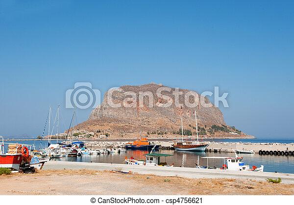 Greek island Monemvasia - csp4756621