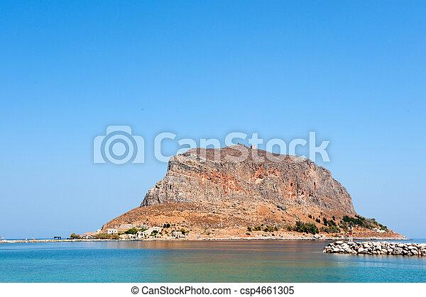Greek island Monemvasia - csp4661305