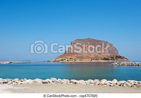 Greek island Monemvasia - csp4707920