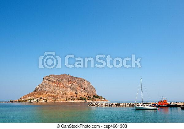 Greek island Monemvasia - csp4661303