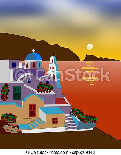 Greek island - csp5209448