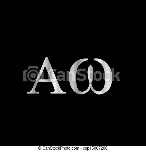 Greek Letter Alpha And Omega Vector Clipart Search Illustration