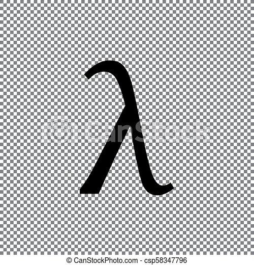 Greek Letter Lambda Symbol On A Transparent Background