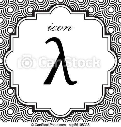 Greek Letter Lambda Symbol On A Geometric Background Of Eps