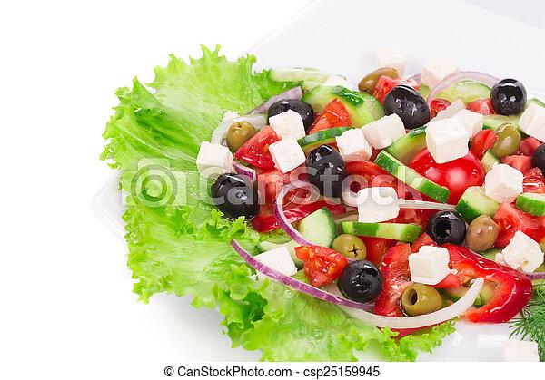 Greek salad. - csp25159945
