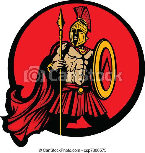 Greek Spartan Trojan Vector Mascot  - csp7300575
