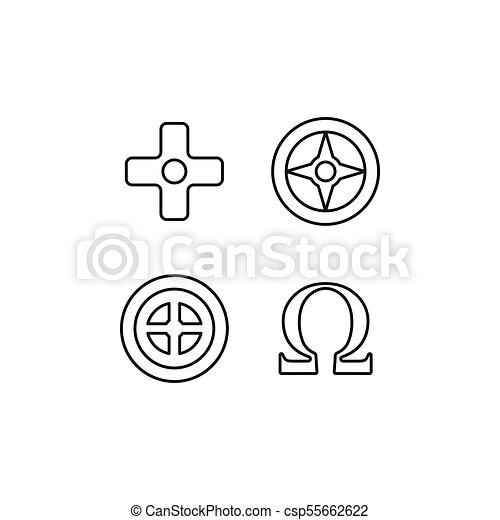 Greek symbols icon, outline style - csp55662622