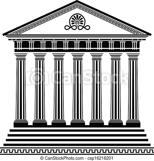 greek temple stencil second variant vector clipart search rh canstockphoto com parthenon clipart free Money Clip Art