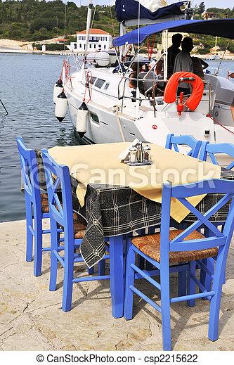 Greek terrace - csp2215622