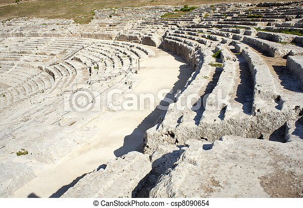 Greek theater, Neapolis of Syracuse - csp8090654