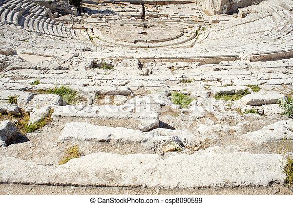 Greek theater, Neapolis of Syracuse - csp8090599