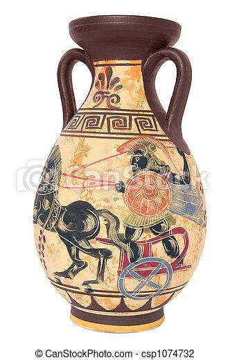 Greek Vase Ancient Greek Vase Isolated On White Background