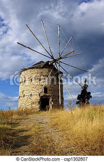 Greek Windmill - csp1302807