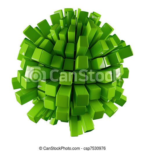 green 3D abstraction - csp7530976