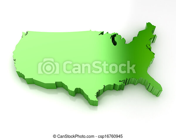 Line Art Usa Map : Green d map of usa drawing search clip art illustrations and