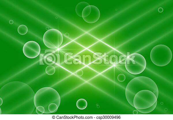 green abstract background, kaleidoscope light - csp30009496