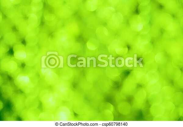 green abstract background with blurred defocus bokeh light - csp60798140