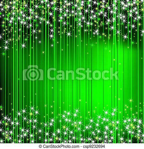 Green Abstract Background with stars  - csp9232694