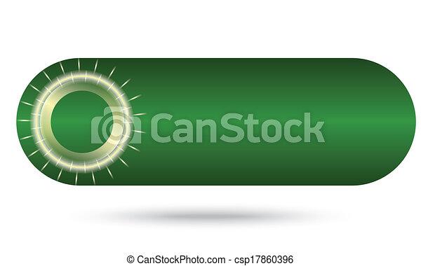 green abstract button - csp17860396