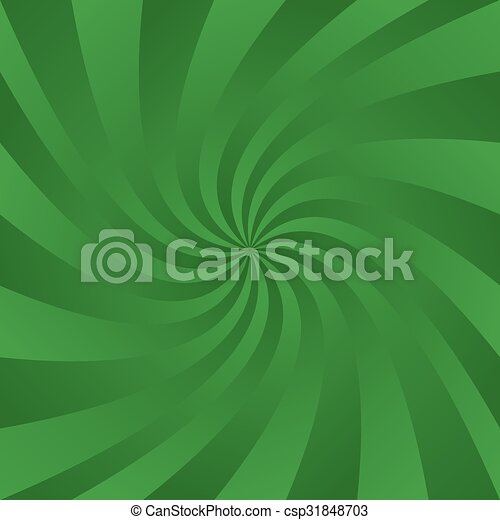 Green Abstract Gradient Swirling Ray Background