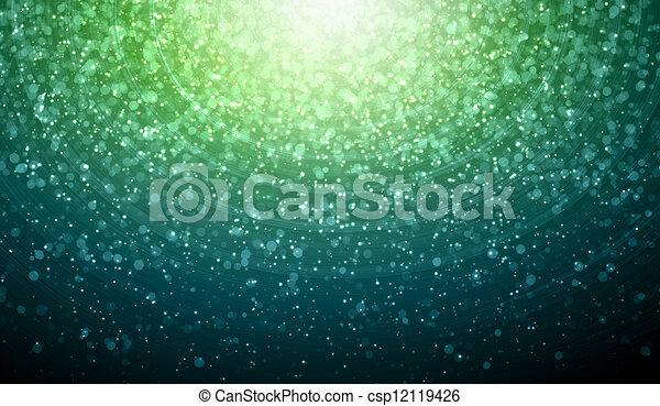 Green abstract light background - csp12119426