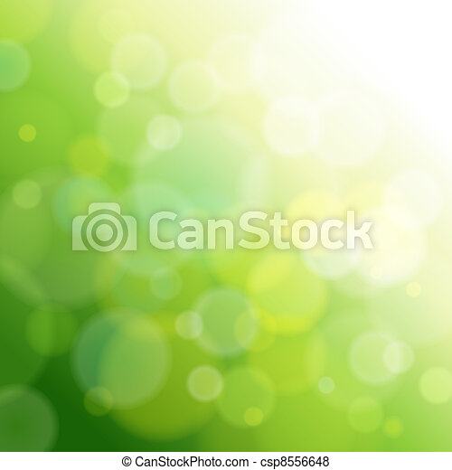 green abstract light background. - csp8556648