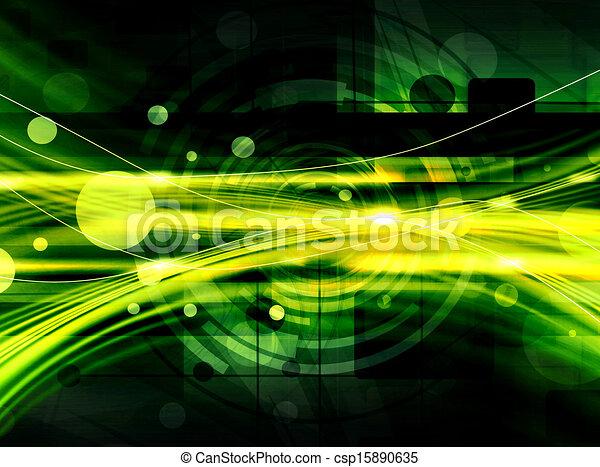 Green Abstract Technology Backgroun - csp15890635