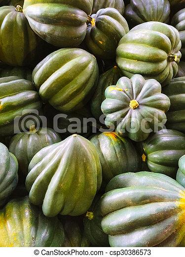 Green Acorn squashes - csp30386573