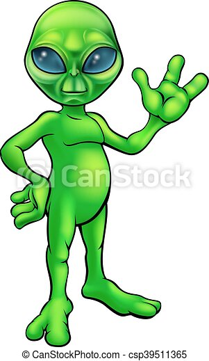 green alien cartoon a little green man alien cartoon character waving rh canstockphoto com green alien cartoon show green alien cartoon disney
