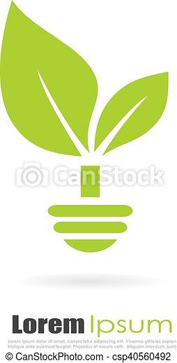 Green alternative energy logo - csp40560492