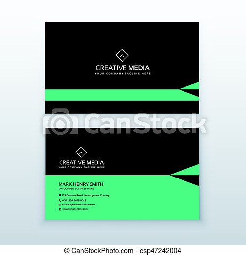 Green and black business card design in simple style green and black business card design in simple style csp47242004 reheart Choice Image