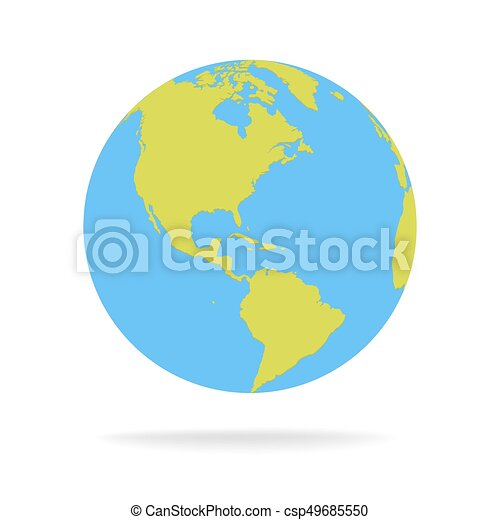 Green and blue cartoon world map globe vector illustration gumiabroncs Image collections