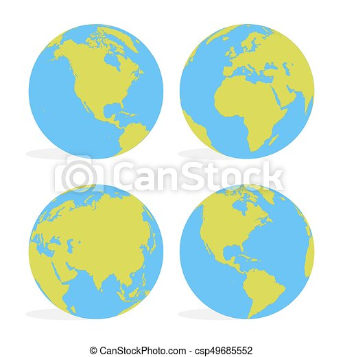 Cartoon Globe Map World Earth Business Icon Vector Image