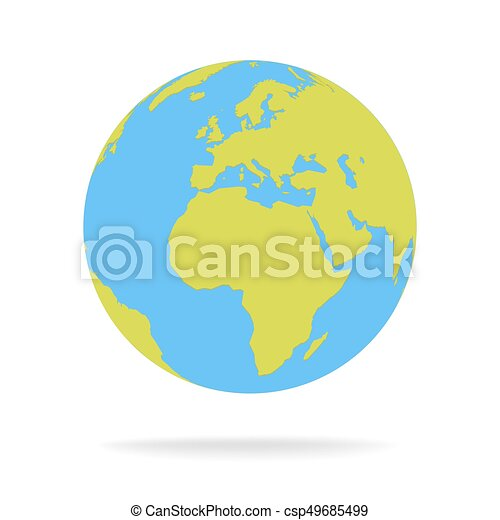Green and blue cartoon world map globe vector illustration gumiabroncs Images