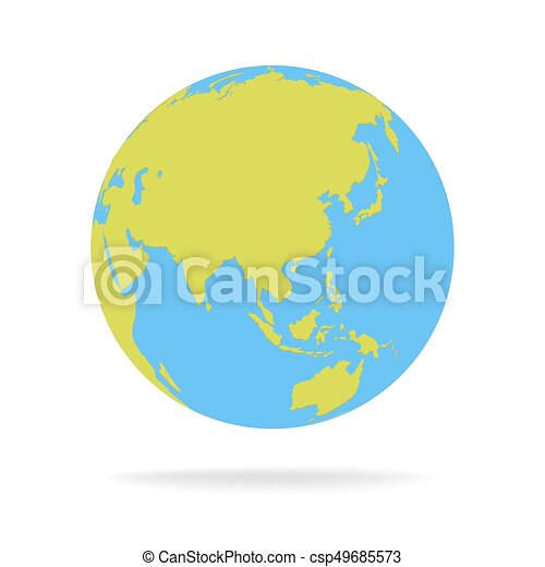 Green and blue cartoon world map globe vector illustration gumiabroncs Gallery