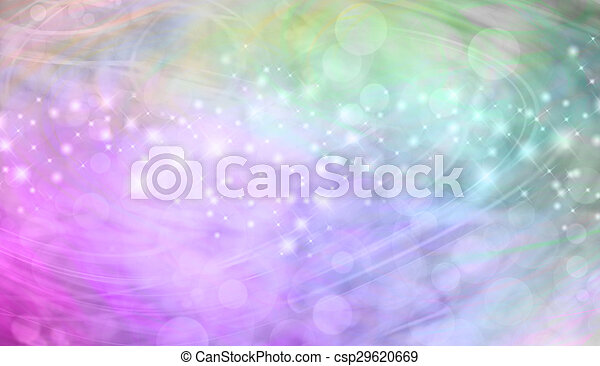 Green and pink bokeh banner - csp29620669
