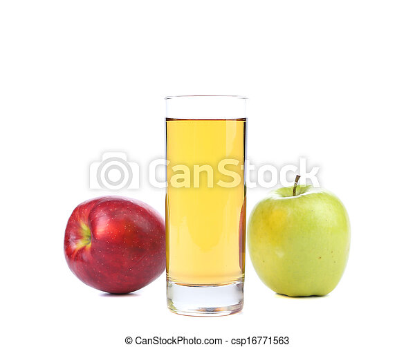 Green and red apples juice. - csp16771563