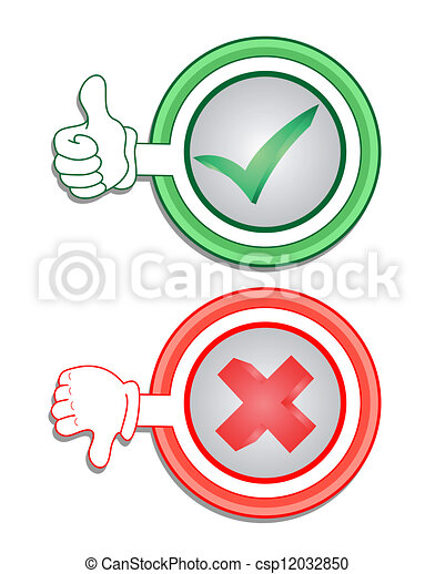 Green and red icon - csp12032850