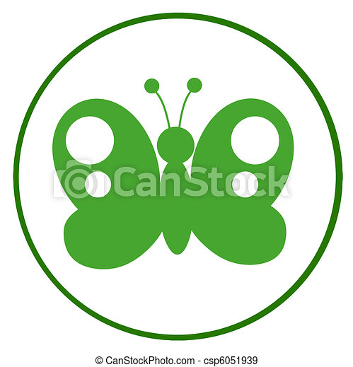 Green And White Butterfly - csp6051939
