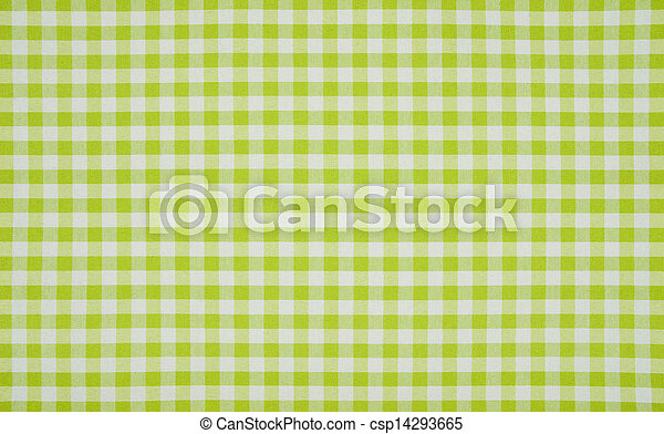 Green And White Checkered Tablecloth   Csp14293665