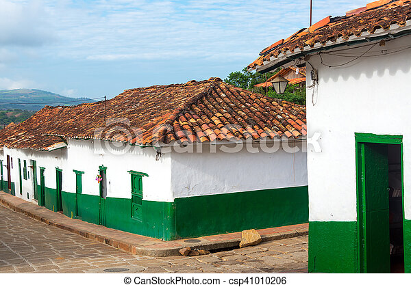 Green and White Colonial Street Corner - csp41010206