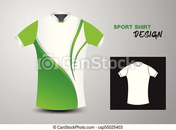 2d3a9226c589 Green and white sport shirt design vector illustration