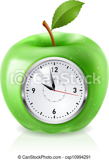 Green apple clock - csp10994291
