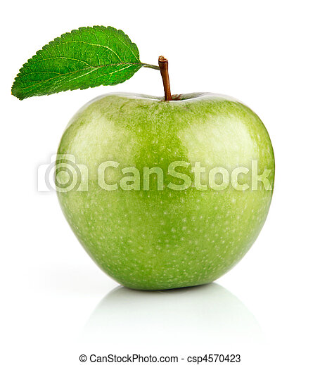 green apple fruits with leaf - csp4570423