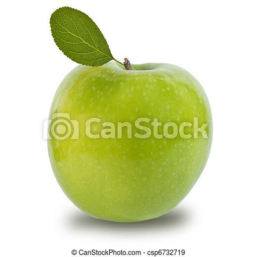 Green apple isolated - csp6732719