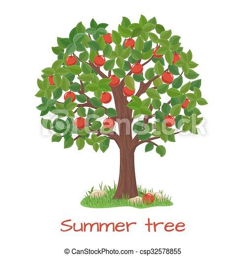 green apple tree summer tree vector green apple tree clipart rh canstockphoto com clipart apple tree free apple tree clip art images