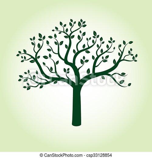 Green Apple Tree Vector Illustration Green Apple Tree Clipart