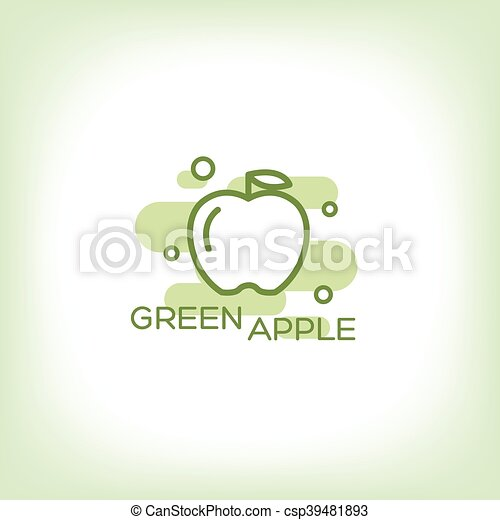 Green apple - vector logo. - csp39481893
