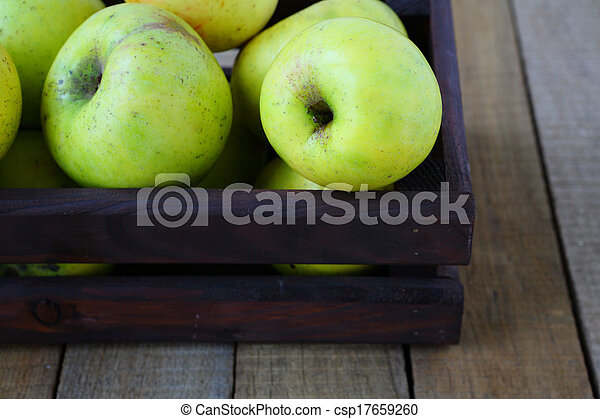 green apples in crate - csp17659260
