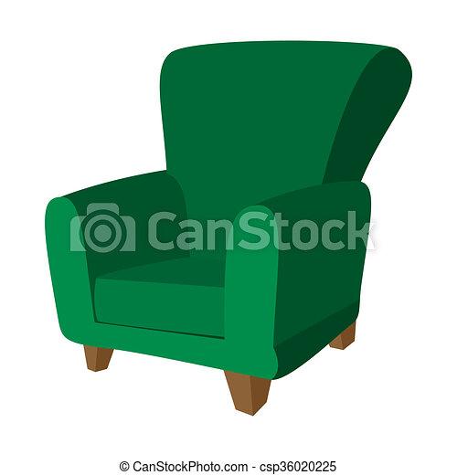 Green Armchair Cartoon Icon   Csp36020225
